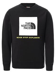 the-north-face-unisex-box-crew-neck-sweat-top-black