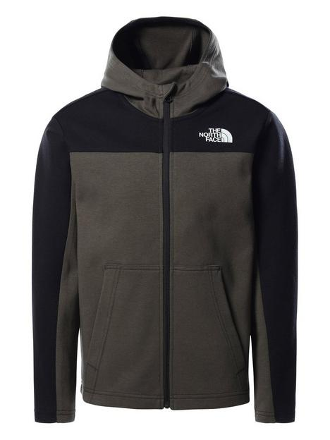 the-north-face-boys-slacker-full-zip-hoodie-green