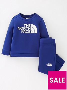 the-north-face-unisex-infant-surcrew-set-blue