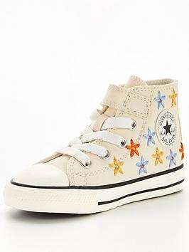 converse-chuck-taylor-all-star-1v-ox-infant-embroidered-floral-trainers-whiterednavy