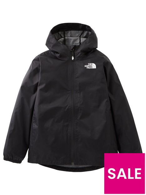 the-north-face-girls-zipline-rain-jacket-black