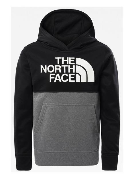 the-north-face-boys-surgent-pullover-colournbspblock-hoodienbsp--blackgrey
