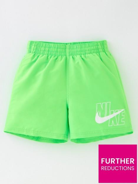 nike-boysnbsplogo-solid-lap-4-inch-volley-shorts-green