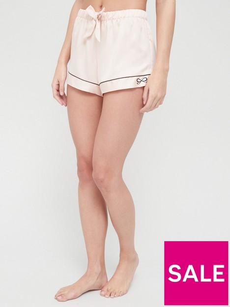 hunkemoller-satin-bow-pj-short-pink