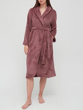 Hunkemoller Long Snuggle Fleece Robe - Berry