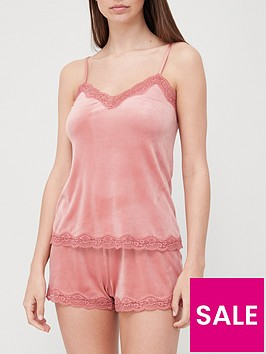 hunkemoller-scallop-lace-cami-pink