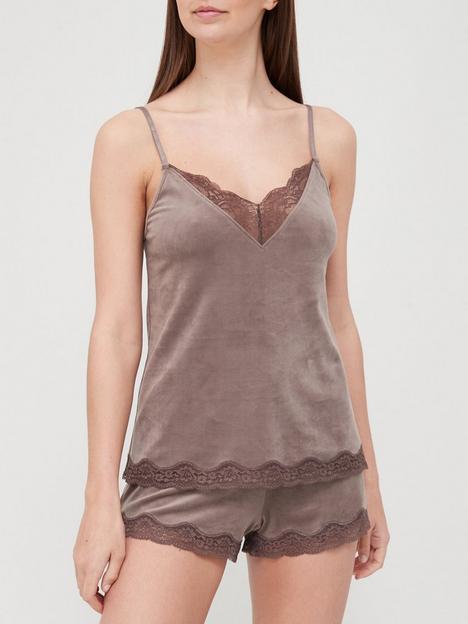 hunkemoller-scallop-lace-cami-grey