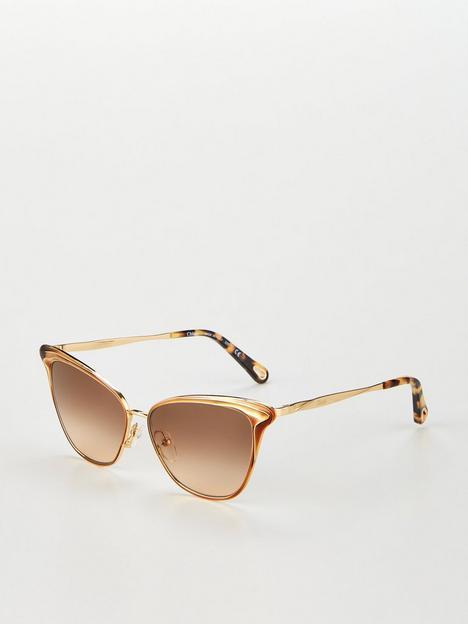 chloe-felicy-cateye-sunglasses-goldnbsp