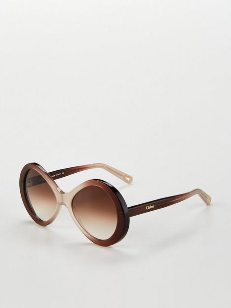 chloe-bonnie-oval-sunglasses-beige