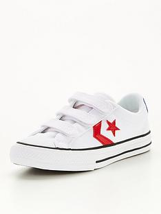 converse-star-player-3v-childrens-lo-plimsolls-whiteredblue