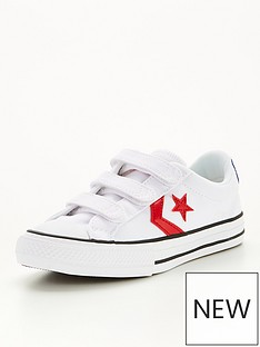 converse-star-player-3v-childrens-lo-plimsolls-whiteredblue