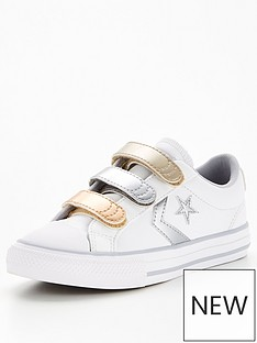 converse-star-player-3vnbspmetallic-leather-ox-childrens-junior-trainers-whitegrey