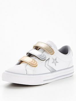 converse-star-player-3vnbspmetallic-leather-ox-childrens-junior-trainers-whitegrey