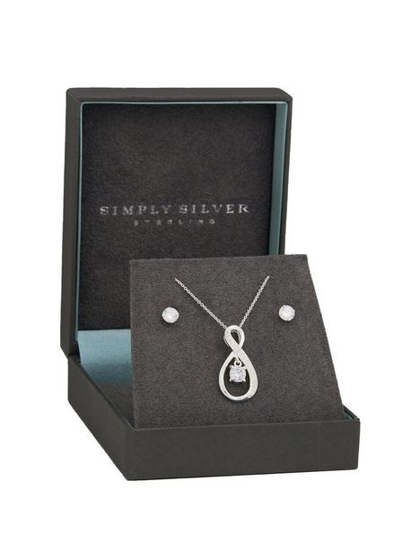 simply-silver-sterling-silver-925-cubic-zirconia-jewellery-set