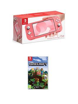 Nintendo Switch Lite Console With Minecraft