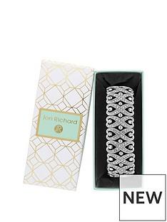 jon-richard-silver-plated-crystal-heart-swirl-stretch-bracelet