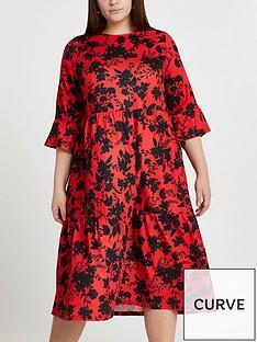 ri-plus-printed-smock-midi-dress-multi