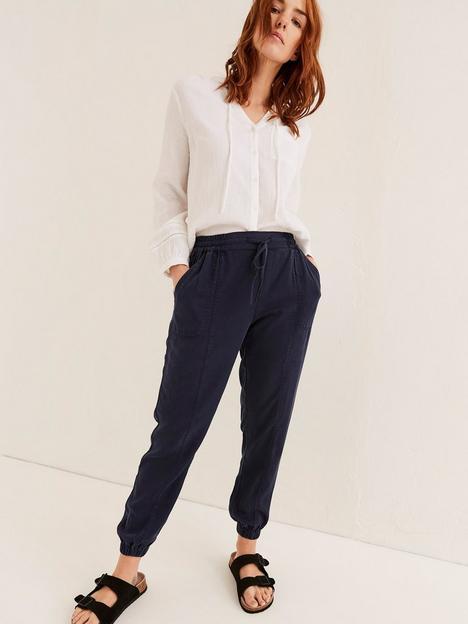 fatface-lyme-tencel-cuffed-trouser-navy