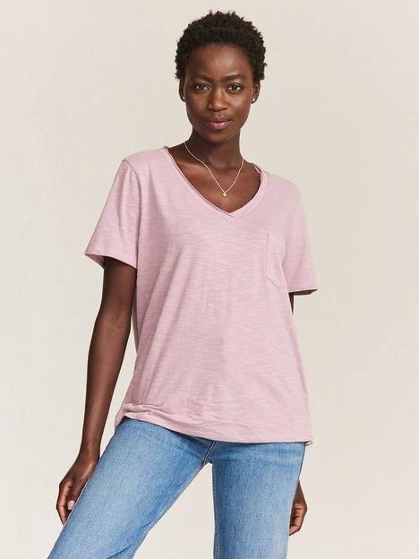 fatface-maggie-supersoft-cotton-blend-v-neck-t-shirt-purple