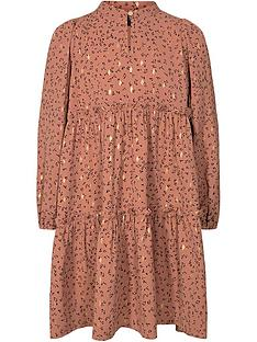 sofie-schnoor-girls-metallic-print-smock-dress-dusty-pink