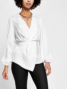 river-island-twist-front-shirt-white