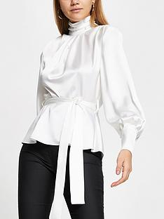 river-island-high-neck-tie-waist-top-white