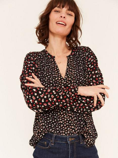 fatface-rosie-pop-ditsy-blouse-black