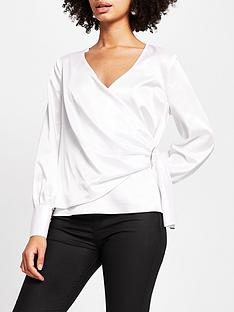 river-island-trim-detail-wrap-blouse-ivory
