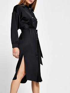 river-island-belted-shirt-dress-black