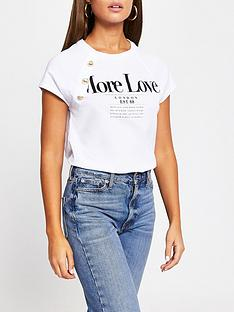 river-island-button-detail-love-tee-white