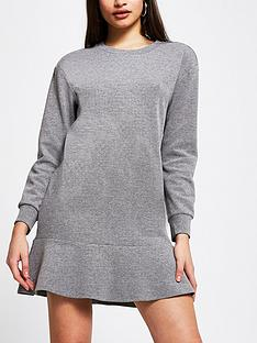 river-island-frill-hem-jersey-dress-grey