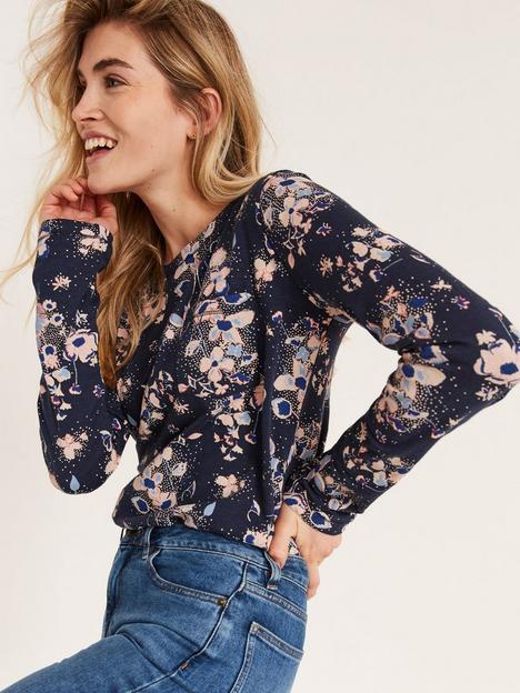 fatface-floral-long-sleeve-button-back-topnbsp--indigo