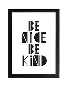 east-end-prints-be-nice-be-kind-by-native-state-a3-framed-print