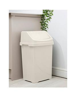 wham-casa-50-litre-swing-bin--nbspcream