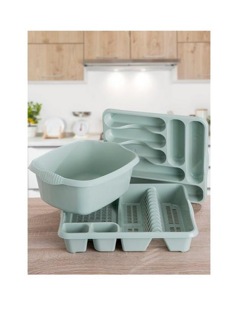 wham-casa-3-piece-kitchen-tidy-set--nbsplight-green