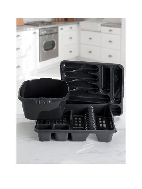 wham-casa-3-piece-kitchen-tidy-set--nbspblack