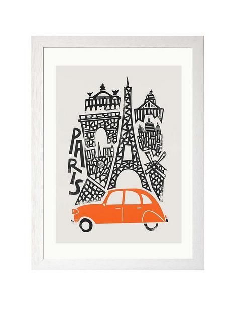 east-end-prints-paris-cityscape-by-fox-amp-velvet-a3-framed-print
