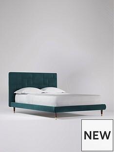 swoon-piet-velvet-double-bed-frame