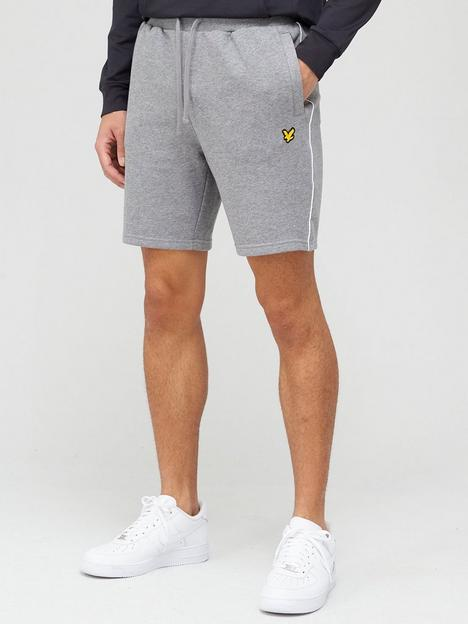 lyle-scott-fitness-piping-shorts-greywhite