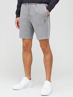 lyle-scott-fitness-piping-shorts-greywhite