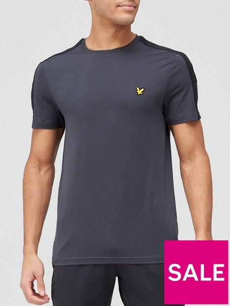 lyle-scott-fitness-tape-stretch-t-shirt-black