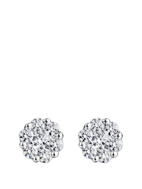 created-brilliance-ava-created-brilliance-9ct-white-gold-050ct-lab-grown-diamond-cluster-earrings