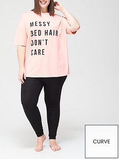 v-by-very-curve-valuenbspshort-sleeve-top-and-legging-pjsnbspset-pink-black