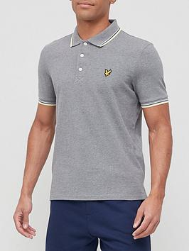 lyle-scott-tipped-polo-shirt-grey-marl
