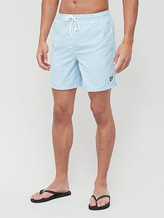 lyle-scott-gingham-swim-short-blue