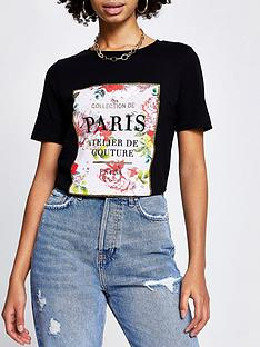 river-island-paris-floral-logo-tee-black