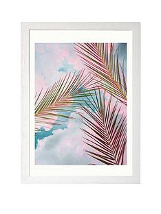 east-end-prints-palms-and-sky-by-83-oranges-a3nbspframed-print