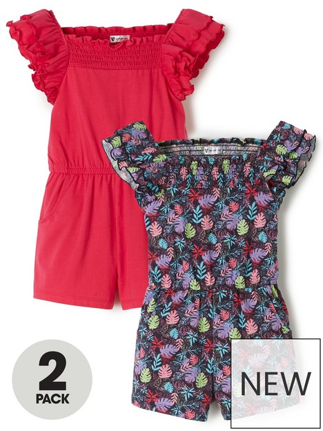 mini-v-by-very-2-pack-hibsicus-jersey-playsuits-multi