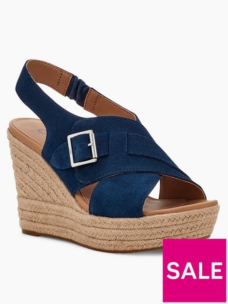 ugg-claudeene-wedge-sandal--nbspnavy