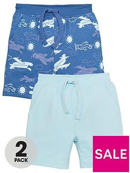 mini-v-by-very-boysnbsp2-pack-print-and-plain-jog-shorts-blue
